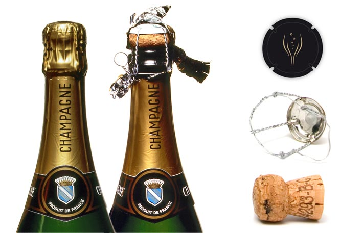 how to put back a champagne cork
